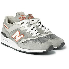 New Balance - 997 Suede and Mesh Sneakers