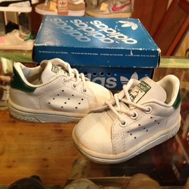 """adidas - 「<used>1990 adidas STANSMITH INFANT white/green""""made in KOREA"""" size:US3/h(10cm) 3900yen」完売"""