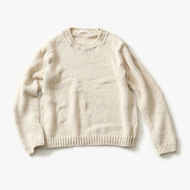 evam eva - low gauge cotton pullover キナリ