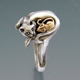 SheppardHillDesigns - Cat and Mouse Ring