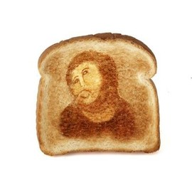 jesus on toast bread