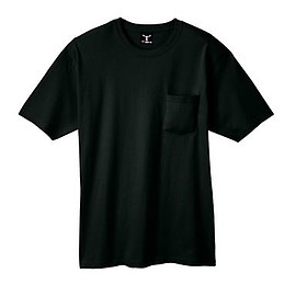 Hanes - Beefy-T Adult Pocket T-Shirt/Black