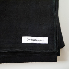 (multee)project - Overdyed Flannel Throw - Jet Black