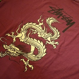 "STUSSY - 「<deadstock>90's STUSSY ""DRAGON""TEE burgundy""made in USA"" size:XL 24800yen→16800yen」販売中"