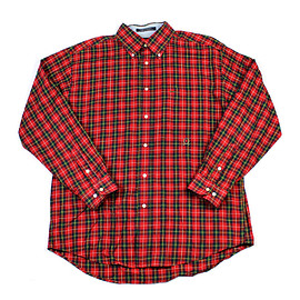 TOMMY HILFIGER - Vintage Tommy Hilfiger Tartan Button Down Shirt Mens Size Large