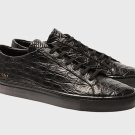 Common Projects - Crocodile Achilles Trainers