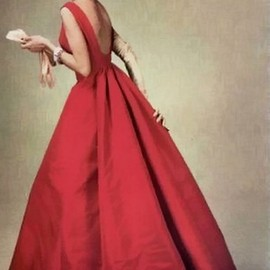 Red Givenchy 1956