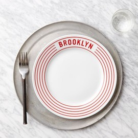 west elm - Red Stripe Pizza Plates  Brooklyn