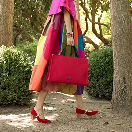 Francis Valentine - Limited Edition Kate Top Handle Tote Red