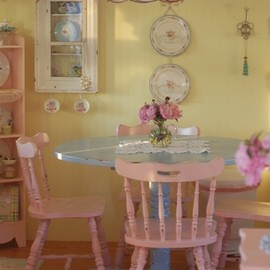 ..in a pink cottage somewhere...