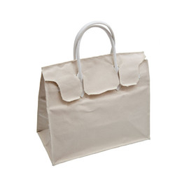 Slow and Steady Wins the Race - Rectangular Bag in Natural Canvas