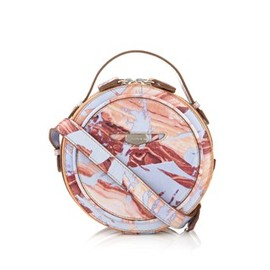 Carven - Lilac Printed Leather Agathe Bag Carven