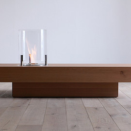 HIRASHIMA ECOSMARTFIRE - CHOCOLAT Living Table 140 Ecosmart Fire