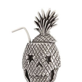 SAINT LAURENT - SILVER SKULL PINEAPPLE PIN