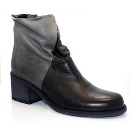 "LD Tuttle - ""The Black"" Black and Grey Leather Boots"