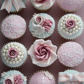 roses, beautiful, cupcakes,