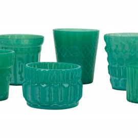 JAYSON HOME - Turquoise Tealight Holders