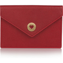 Smythson  - Embossed-leather photo pouch