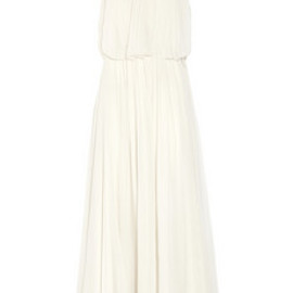 Chloé - flower-appliquéd silk-mousseline gown