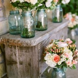 #Flowers in mason jars