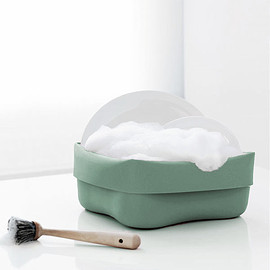 Normann Copenhagen - Washing Up Bowl & Brush - Mint
