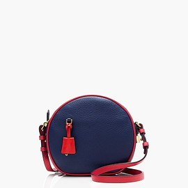 J.CREW - signet circle bag in piped italian leather