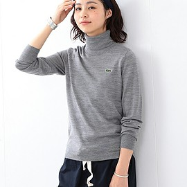 BEAMS BOY - LACOSTE / Wool タートルネック SPECIAL