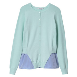 Carven - FELTED AND LIGHT KNIT PEPLUM CARDIGAN