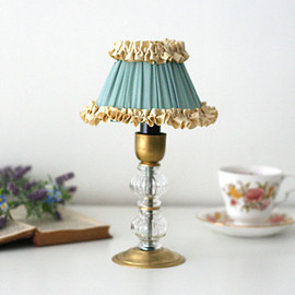 kino - French Frill Stand Lamp (Small) (アイスブルー×アイボリー)