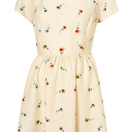 TOPSHOP - Pansy Print Collar Dress