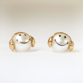 laonato - Happy smiley pearl earrings