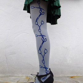 EineLilie - Scissor Stripe Tights