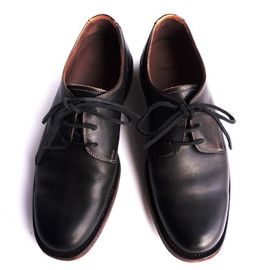 MOTO - PLANE TOE OXFORD SHOES(BLACK)3