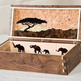 AWL WoodWorks - Custom African Themed Jewelry Box