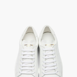 SAINT LAURENT - Wolly Sneakers White