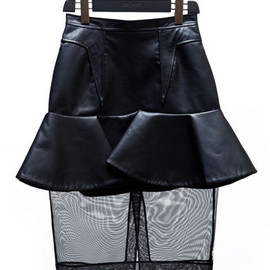 GIVENCHY - Leather skirt