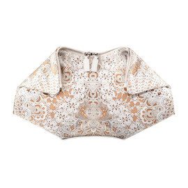 Alexander McQueen - Lace-Print De-Manta Clutch Bag, Cream