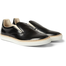 Maison Martin Margiela - Leather Slip-On Sneakers
