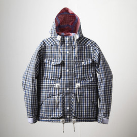 White Mountaineering, EYESCREAM.JP - T/C Broad Check GORE-TEX Mountain Parka