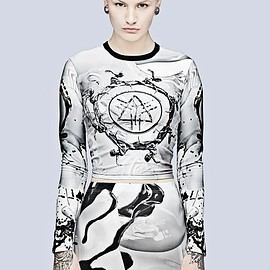 LONG CLOTHING - Long x Pussykrew Long Sleeve Crop Top