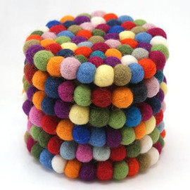 Freckle From Nepal - Felt Ball Coaster