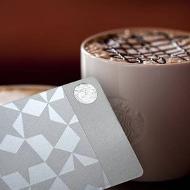STARBUCKS - stainless steel Starbucks gift card