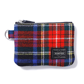 "HEAD PORTER - ""LESSON"" ZIP WALLET BLACK"