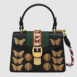 GUCCI - FW2017 Sylvie animal studs leather mini bag