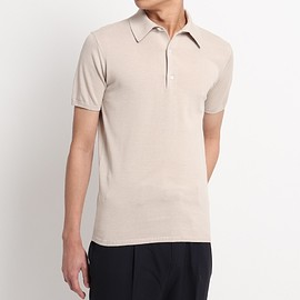 +CLOTHET - 【SUVIN COTTON】Knit Polo-shirts スビンコットンニット