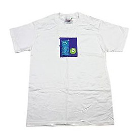 Disney - Disney Pixar Monsters Inc. Movie Promo White Cotton Shirt Mens Size Small
