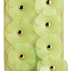 Burberry - iPhone 5/5s Case in Leather and Rubber with Flowers