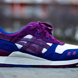 Asics - Gel Lyte III (White/Royal/Purple)