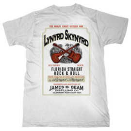 LYNYRD SKYNYRD / JB WHISKEY WHITE / T-Shirts Tシャツ レーナード・スキナード