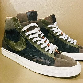 NIKE, Mo' Wax - Blazer Hi - Olive/Black/Orange/White?